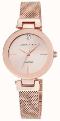 Anne Klein Женская роза золотая сетка розового золота набрать AK/N2472RGRG