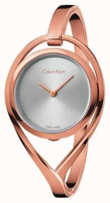 Calvin Klein Женские легкие средние розовые золотые тона браслеты серебро циферблат K6L2M616
