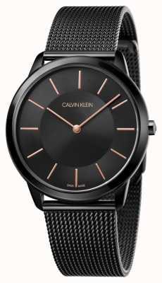 Calvin Klein Мужские минимальные часы | черный ремешок из нержавеющей стали | K3M21421