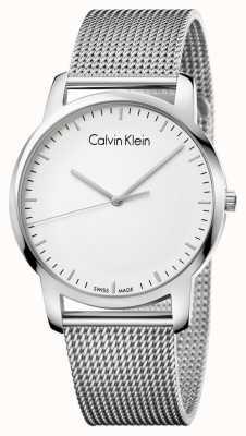 Calvin Klein Mens City нержавеющая сталь сетчатый ремень серебряный циферблат K2G2G126