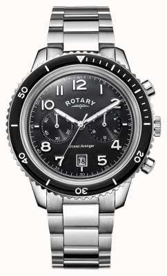 Rotary Черный циферблат хронографа GB05021/04
