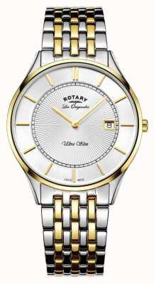 Rotary Мужской двухцветный браслет ультра тонкий GB90801/02