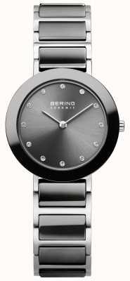 Bering Женская нержавеющая сталь серая керамика 11429-783