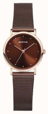 Bering Женский коричневый сетчатый ремень 13426-265