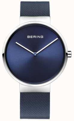 Bering Модный синий сетчатый стальной сетчатый ремень 39 мм 14539-307