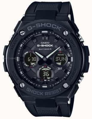 Casio Черный ремень с хронографом для мужчин g-steel GST-W100G-1BER