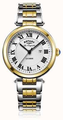 Rotary Женская люцерна двухцветное серебряное золото LB90188/01/L