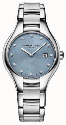 Raymond Weil Женский циферблат noemia 12 diamond blue 5132-ST-50081