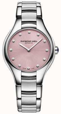 Raymond Weil Женская номия 12 бриллиантовая розовая 5132-ST-80081