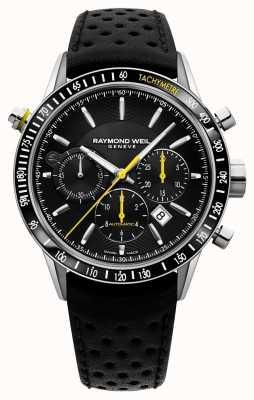 Raymond Weil Мужской автоматический черный хронограф с черным кожаным ремешком 7740-SC1-20021