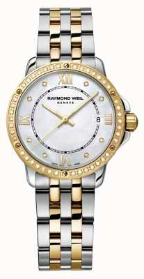 Raymond Weil Женщины танго два тон алмазов точка перламутр 5391-SPS-00995