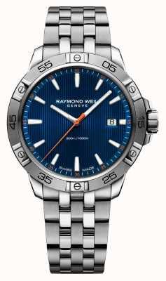 Raymond Weil Мужская танго 41мм нержавеющая сталь синий указательный набор 8160-ST2-50001
