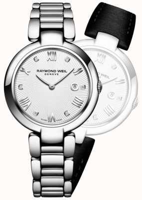 Raymond Weil Женщины блестят серебряный бриллиант из нержавеющей стали 1600-ST-00618