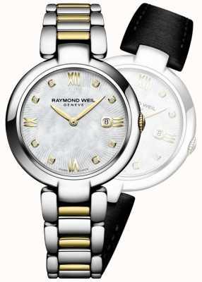 Raymond Weil Женщины блестят двухточечной алмазной точкой из нержавеющей стали 1600-STP-00995