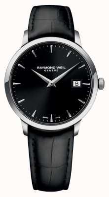 Raymond Weil Мужская тонкая черная кожа 5488-STC-20001