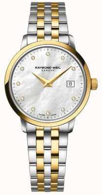 Raymond Weil Женщины toccata двухтональный золотой бриллиант 5988-STP-97081