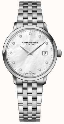 Raymond Weil Женщин toccata кварц из нержавеющей стали серебристый алмаз точка 5988-ST-97081