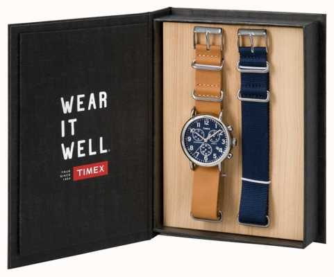 Timex Мужская подарочная коробка с хронографом TWG012800