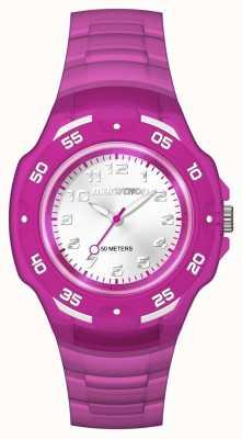Timex Мужской марафон аналог серебристый фиолетовый TW5M06600
