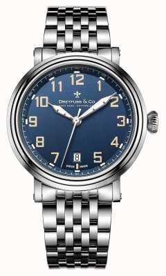 Dreyfuss мужской нержавеющей стали 1924 браслет синий циферблат DGB00152/52