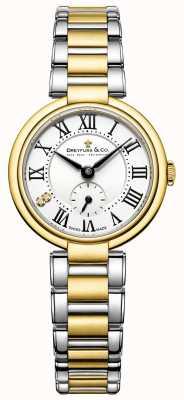 Dreyfuss дамы 1974 два тона позолоченные часы DLB00158/01