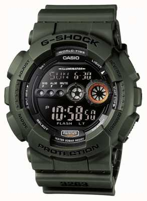 Casio Мужское ограниченное издание g-shock green GD-100MS-3ER