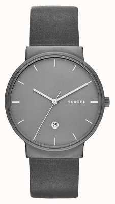 Skagen Анкерный титан и кожаные часы SKW6320