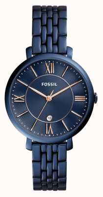Fossil Женские жаккардовые синие часы из нержавеющей стали ES4094