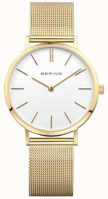 Bering Женские классические миланские золотые часы 14134-331