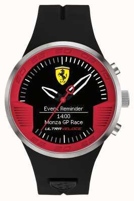 Scuderia Ferrari Мужской черный резиновый ремешок черный красный 0830373