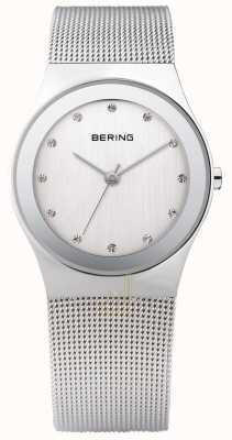 Bering Женские серебряные сетчатые часы 12934-000