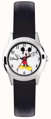 Disney Adult Микки-мышь серебряный чехол черный ремешок MK1314