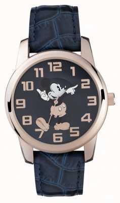 Disney Adult Микки-мышь розового золота чехол синий ремешок MK1456