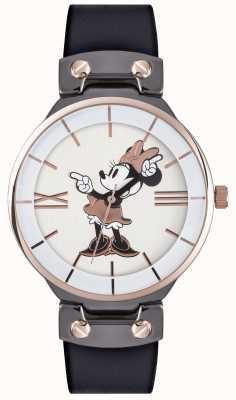Disney Adult Minnie мышь розовый золотой чехол черный ремешок MN1564
