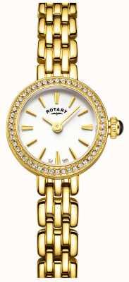 Rotary Женские позолоченные каменные часы для коктейлей LB05053/02