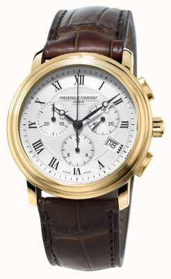 Frederique Constant Мужской классический хронограф коричневый кожаный ремешок FC-292MC4P5