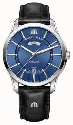 Maurice Lacroix Mens pontos автоматический синий PT6358-SS001-430-1