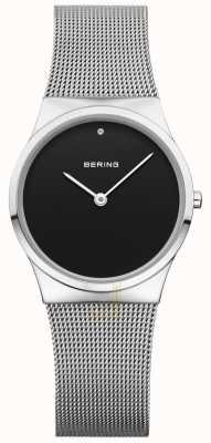 Bering Женская классическая сетка черного циферблата 12130-002