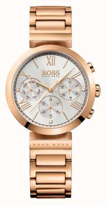Hugo Boss Женская классическая спортивная розовое золото позолоченный браслет серебристый циферблат 1502399