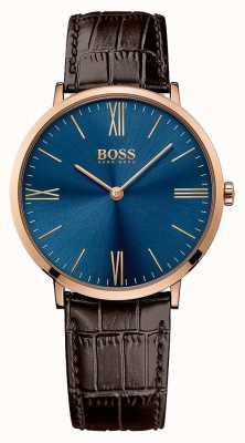Hugo Boss Кожаный ремешок коричневого цвета 1513458