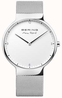 Bering Mens max rené сменный сетчатый ремень серебристый 15540-004