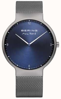 Bering Mens max rené сменный сетчатый ремень серый 15540-077