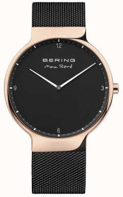Bering Mens max rené сменный сетчатый ремень черный 15540-262