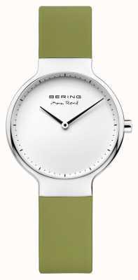 Bering Дамы max rené сменный зеленый резиновый ремешок 15531-800