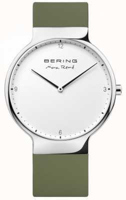 Bering Mens max rené сменный зеленый резиновый ремешок 15540-800
