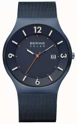 Bering Мужской солнечный синий миланский сетчатый ремень 14440-393