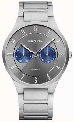 Bering Мужские титановые серые хронографы 11539-777