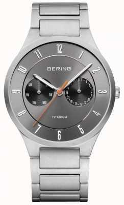 Bering Мужские титановые серые хронографы 11539-779