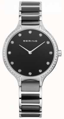 Bering Женские черные керамические циркониевые часы 30434-742