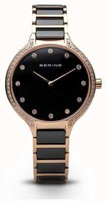 Bering Женские черные часы из черного циркония 30434-746